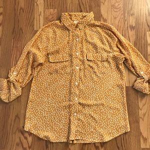Loft blouse button-down